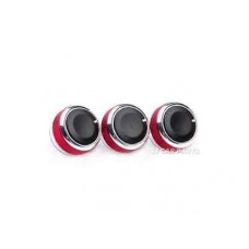 3x New RED Air Conditioning Heat Control Switch AC Knob For Ford Focus MK2 MK3