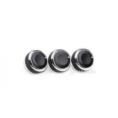 Black 3x Air Conditioning Heat Control Switch AC Knob For Ford Focus MK2 MK3
