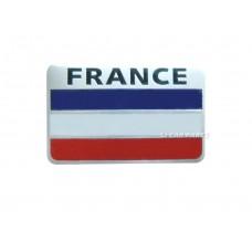 NEW 3D Aluminum France Car Flag Rectangle Chrome Emblem Badge Sticker Logo