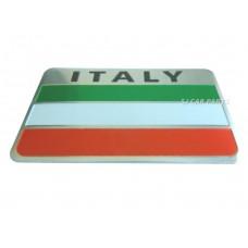 NEW 3D Aluminum Italy Car Flag Italia Rectangle Chrome Emblem Badge Sticker Logo