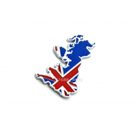 England UK GB Flag Union Jack Rear Car Emblem Badge Sticker Logo Chrome 3D