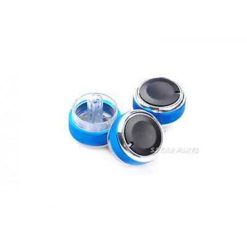 3x Air Conditioning Heat Control Switch AC Knob For Ford Focus MK2 MK3 Blue